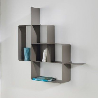 Mondrian Bookcase | Sandblasted Dove Grey (22) & Sandblasted Dove Grey (25)
