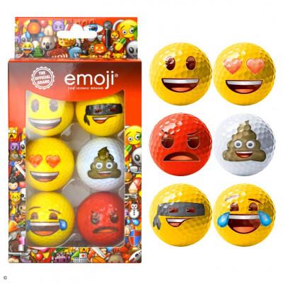 Set of 6 Emoji Golf Balls