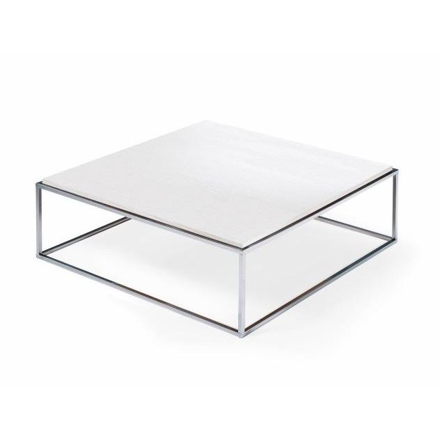 Lamina Coffee Table | Stainless Steel & Matrix White