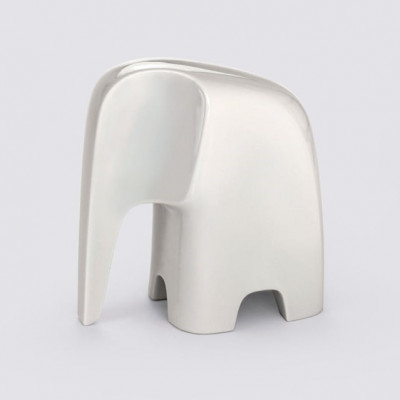 Figur Elefant   Porzellan   Weiß