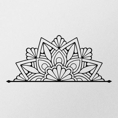 Dekoratives Wandzubehör aus Metall Guzeste l Schwarz