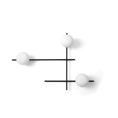 Wall Lamp Mikado 3 Lights | Black Soft