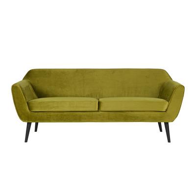 3-Sitzer-Sofa Rocco Samt | Olivgrün