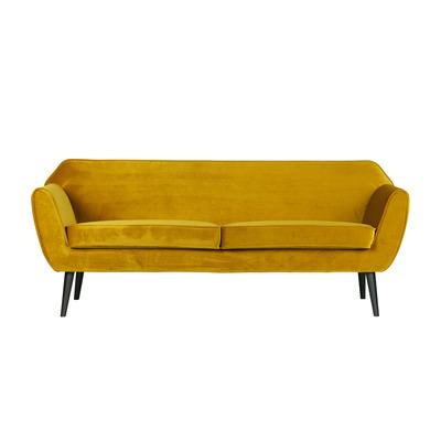 3-Sitzer-Sofa Rocco Samt |  Ocker