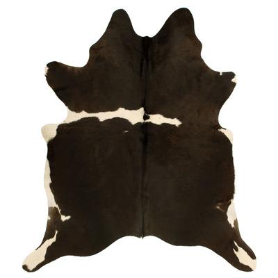 Einzigartige Kuhhaut   Schwarz, Weiß, Dunkelbraun & Creme