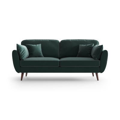 3 Sitzer Sofa Auteuil Samt   Petrolblau