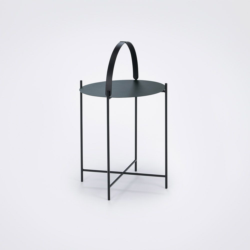 Edge Tray Table | Black-Ø 62 cm