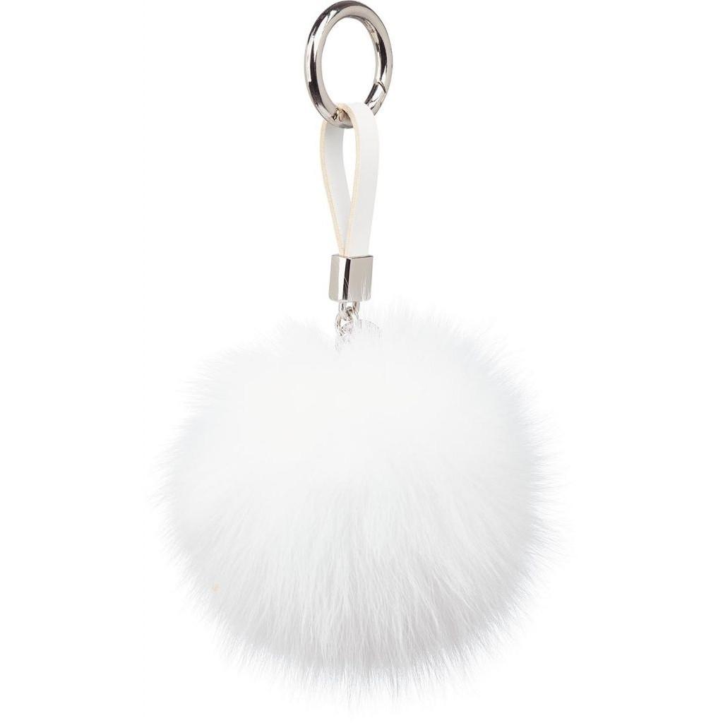 Schlüsselbund Pom Pom   Weiß