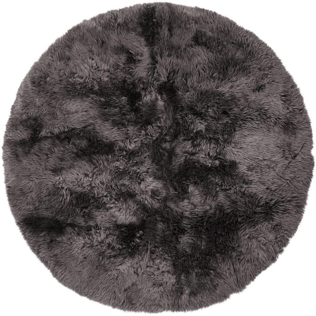 Design Rug New Zealand Round | Dark Grey