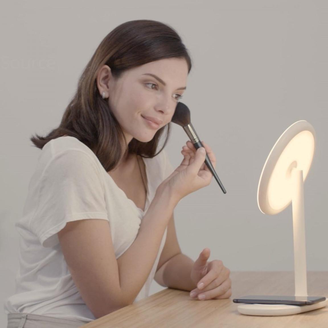 Make-up-Spiegel mit drahtlosem Ladegerät f200   Creme