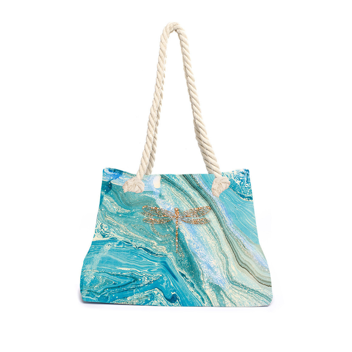Strandtasche Marmorlibelle