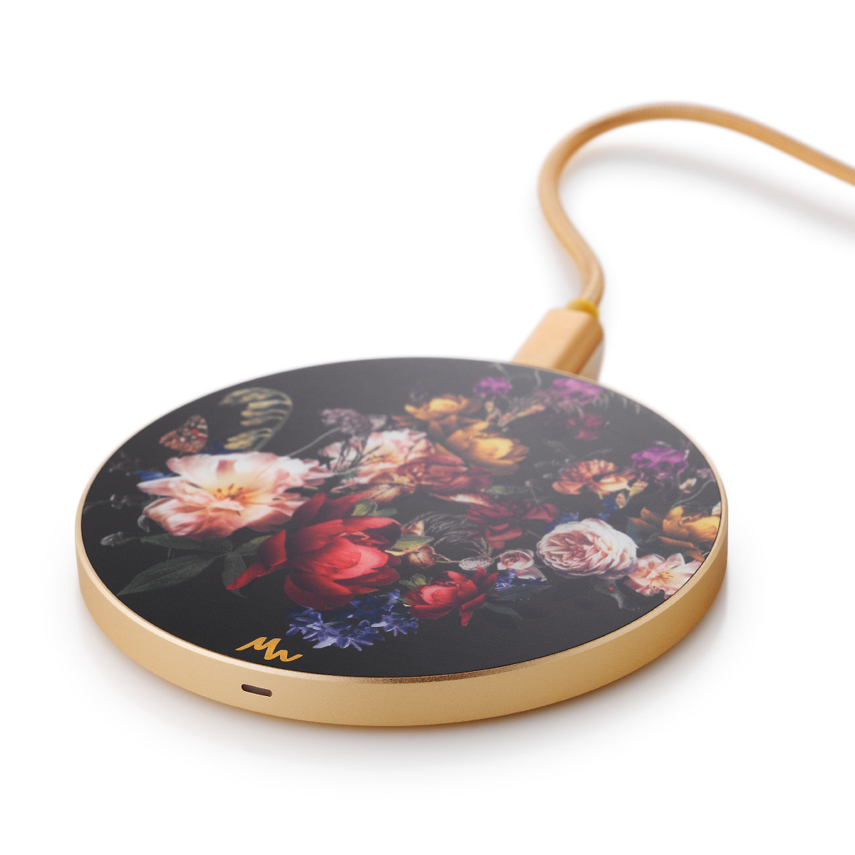 Wireless Charger   Vintage Flowers / Gold