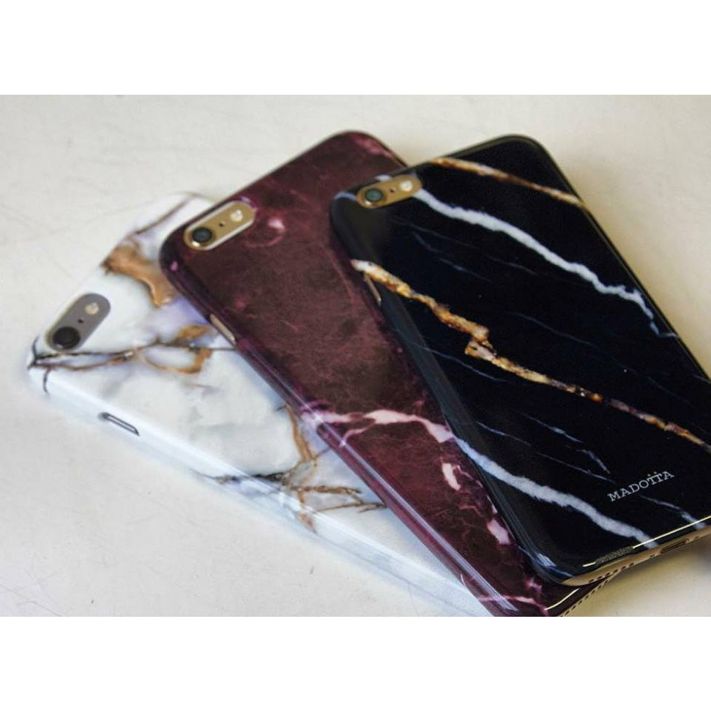 Marble Print Smartphone Case   Red Wine