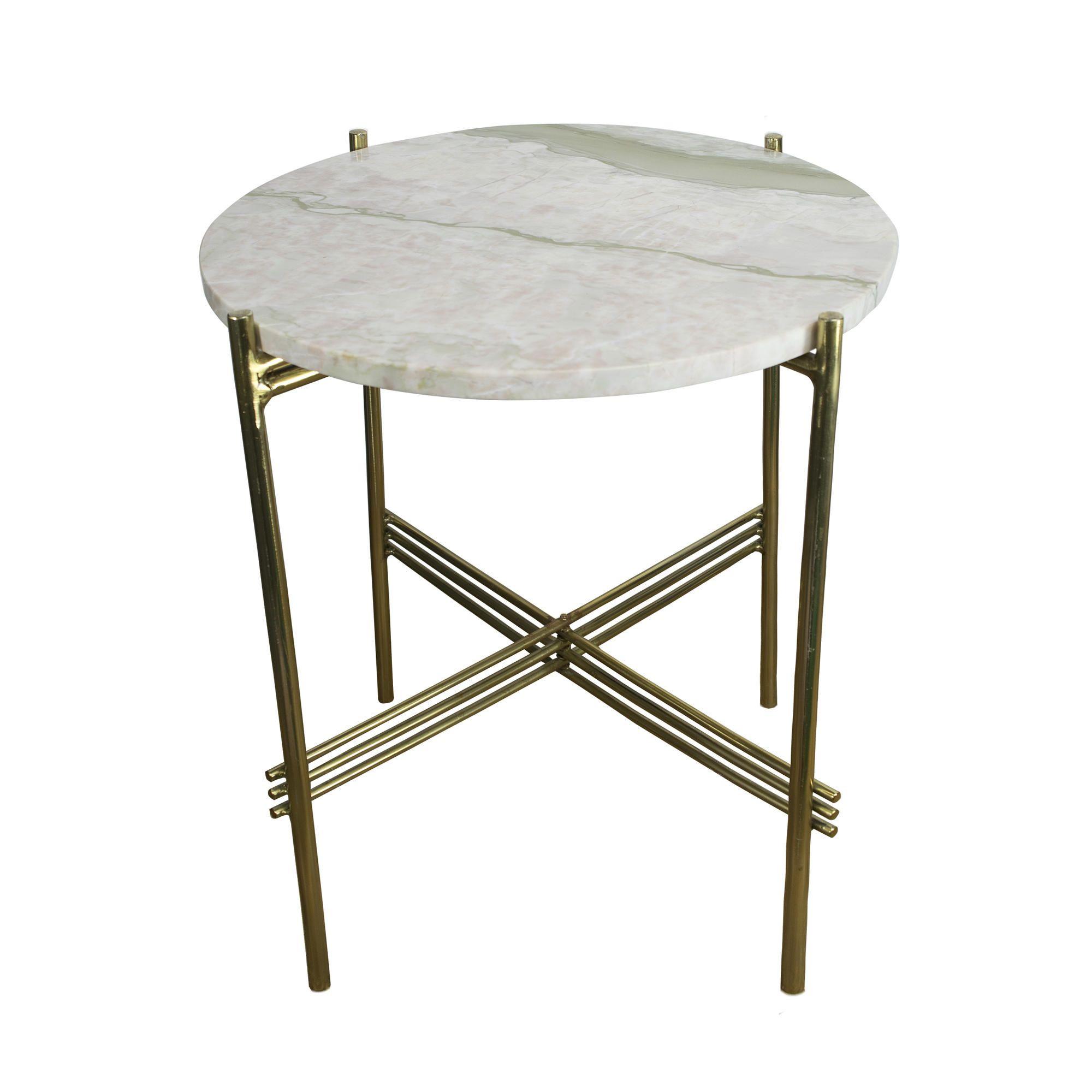 Marble Side Table | Rainbow - Grey