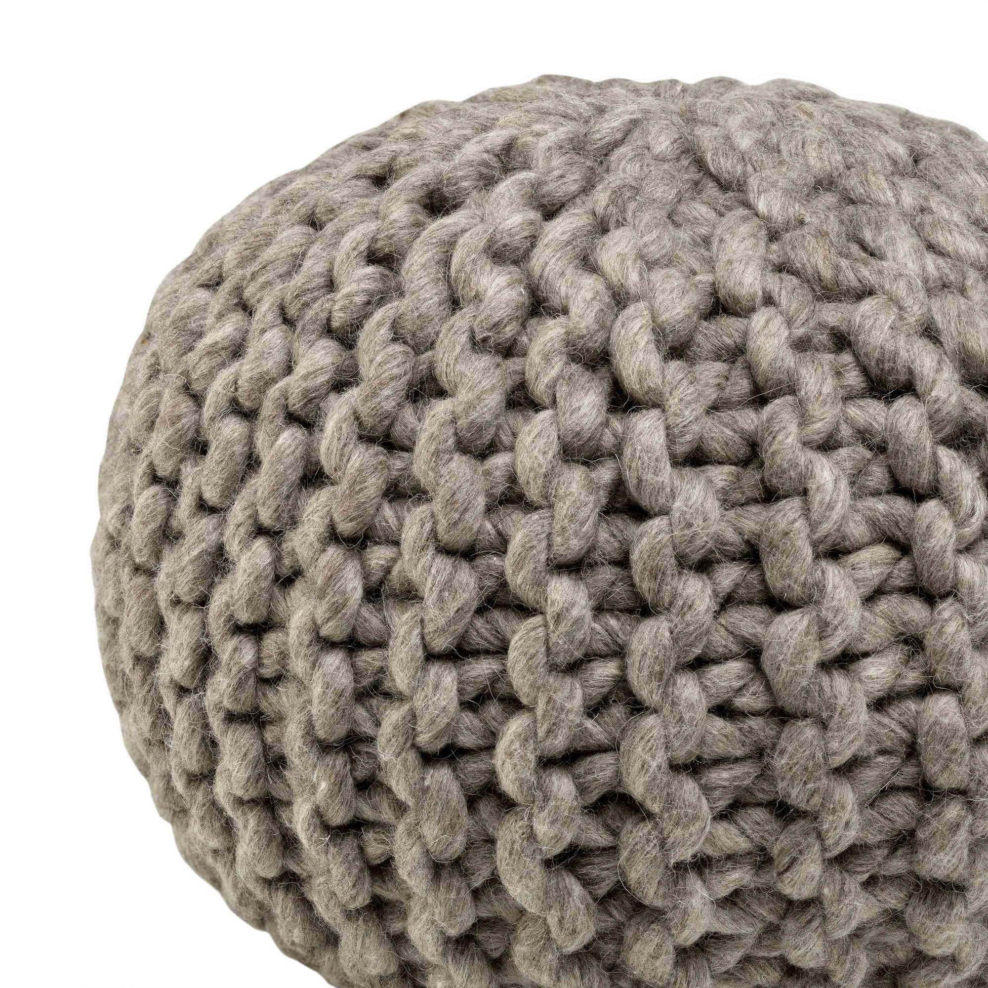 Wool Pouf | Dark Grey
