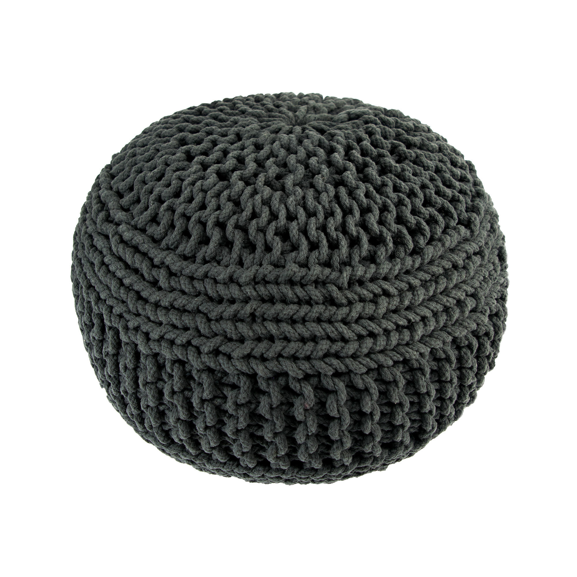 Knitted Pouf | Dark Grey