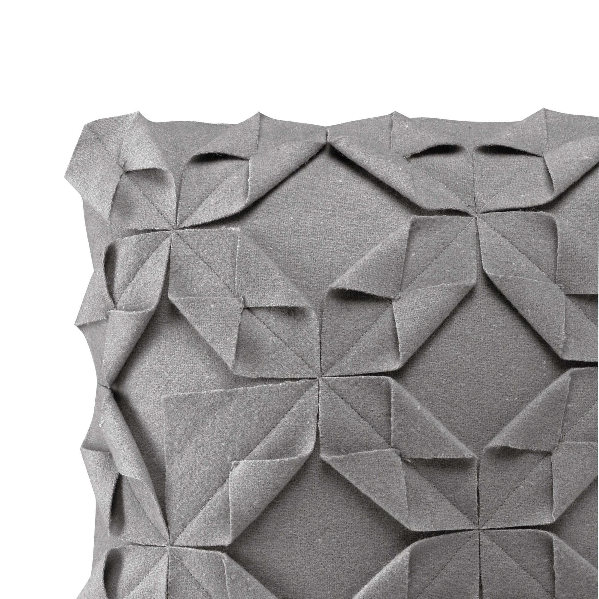 Kussenhoes 50 x 50 cm Origami Felt | Grijs