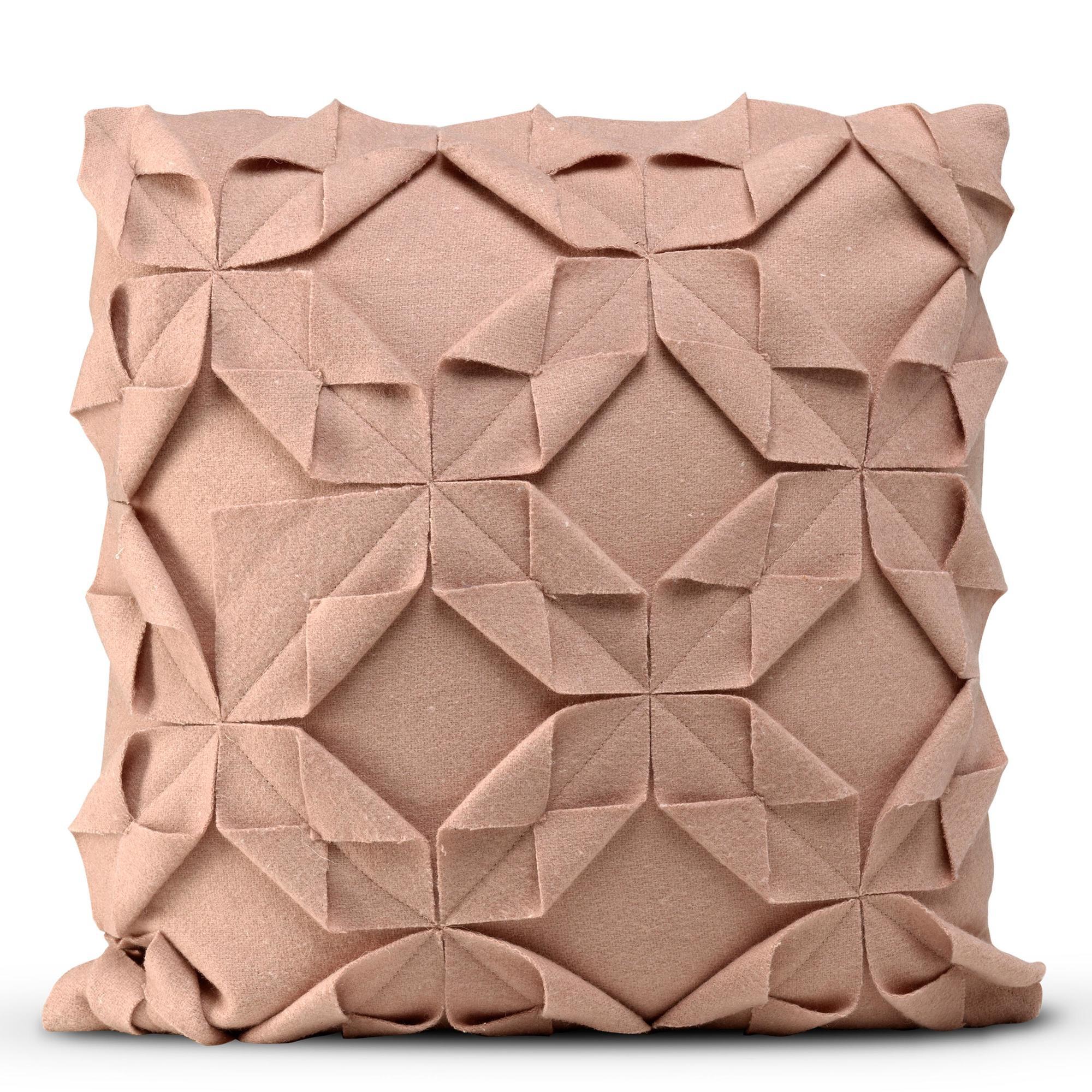 Kussenhoes 50 x 50 cm Origami Felt | Oudroze