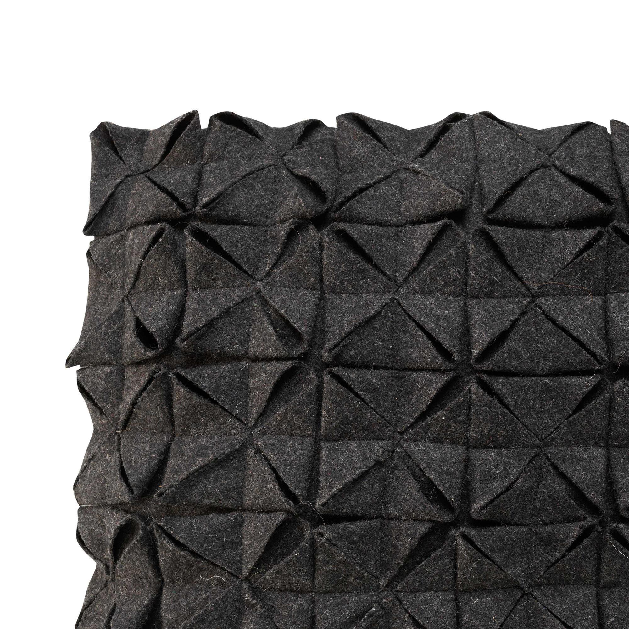 Cushion Cover 50 x 50 cm Geo Felt | Black