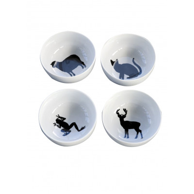 Set of 6 silhouet bowls