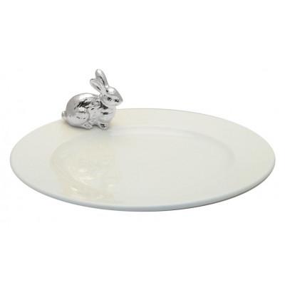 Teller mit Silberhase