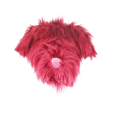 Fake Hundekopf | Rot