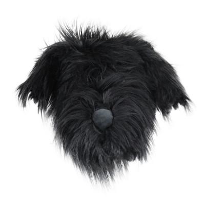 Fake Hundekopf | Schwarz