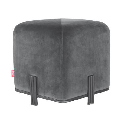 Quadratischer Hocker Stein | Dunkelgru