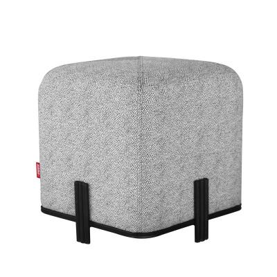 Quadratischer Hocker Stein | Grau