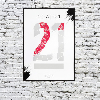Poster Kratzen & Enthüllen   21 at 21