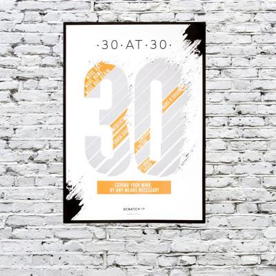 Poster Kratzen & Enthüllen   30 at 30