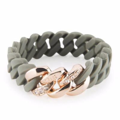 The Chrystal bracelet   Green Tea & Rose Gold