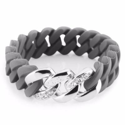 The Chrystal bracelet   Grey & Platin Silver
