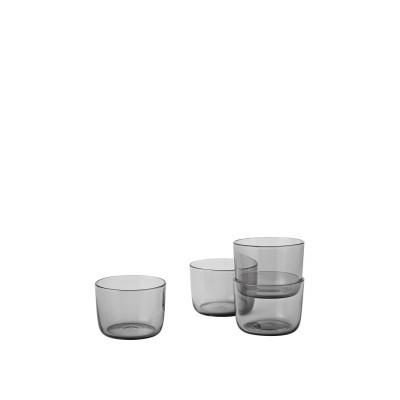 4er-Set Corky-Gläser | Grau - Niedrig