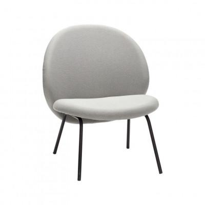 Lounge Chair mit Metallbeinen | Schwarz/Grau