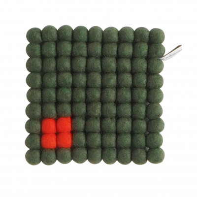 Topfuntersetzer Quadrat   Moosgrün