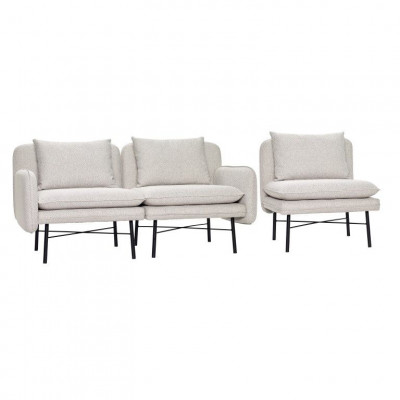 Modular Sofa for 3 People | Light Grey/Black