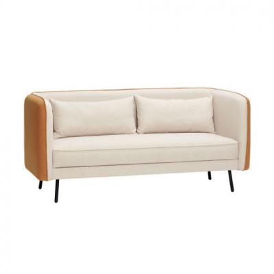 2-Sitzer-Sofa | Beige/Orange