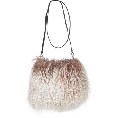 Handtasche Jasmin | Taupe & Weiß