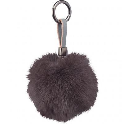 Schlüsselbund Pom Pom | Dunkelgrau