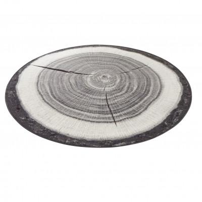 Tree Trunk   Round Grey Rug