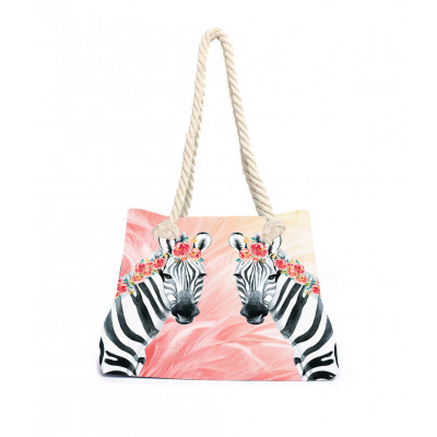 Strandtasche Zebra Boho