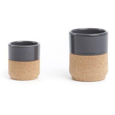 A Set mit 2 Tassen dunkelgrau