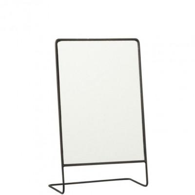 Spiegel auf Fuß Rectangle   Schwarz