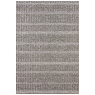 Flachgewebter In- & Outdoor-Teppich Laon | Grau