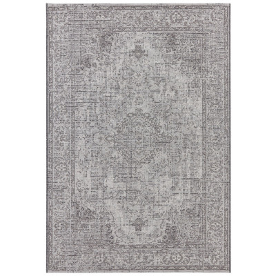 Flachgewebter In- & Outdoor-Teppich Cenon | Grau
