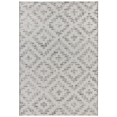 Flachgewebter In- & Outdoor-Teppich Creil | Creme