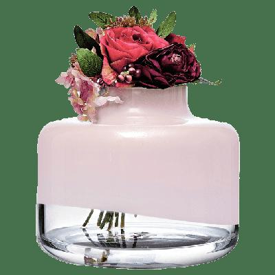 Magnolia Vase 240/200 mm | Pink Top