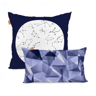 2er Set Kissenbezüge Cosmos l 50x50cm + 50x30cm