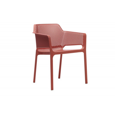 Stapelbares Sessel Net | Rot